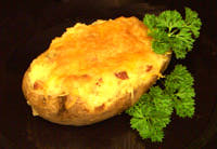 Bacon Cheddar Twice-Baked Potatoes Recipe